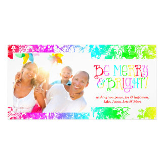 GC Be Merry & Bright Christmas New YEar Personalized Photo Card