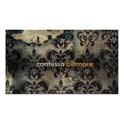 GC | Captivating Contessa | Matte Cream finish Business Card