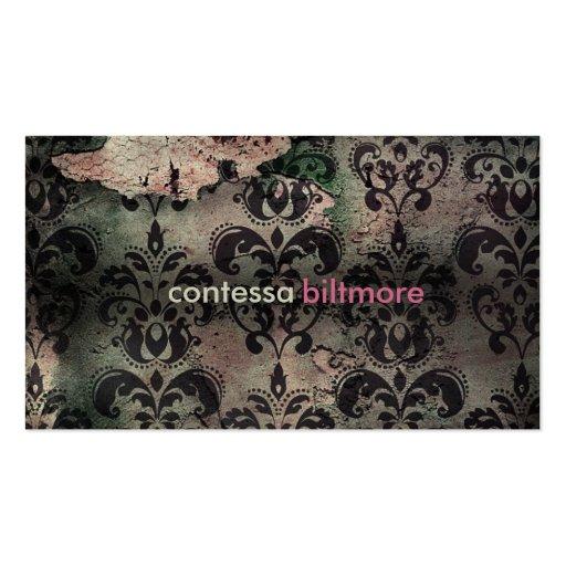 GC Captivating Contessa | Pink | MatteCreamCard Business Card Template
