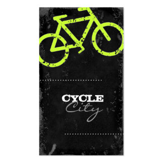 GC | Cycle City Concrete - Lime Double-Sided Standard Business Cards (Pack Of 100)