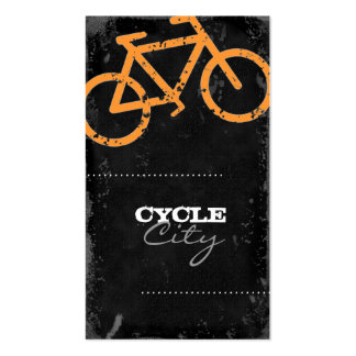 GC | Cycle City Concrete - Orange Double-Sided Standard Business Cards (Pack Of 100)