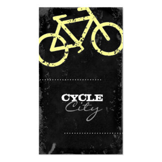 GC | Cycle City Concrete - Yellow Business Card