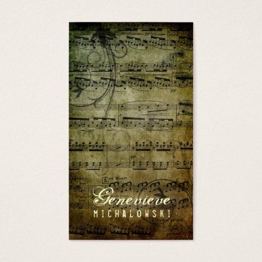 GC | Eloquent Grunge Music Business Card