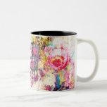 GC   Fabulously French Shabby Rose Coffee Mugs