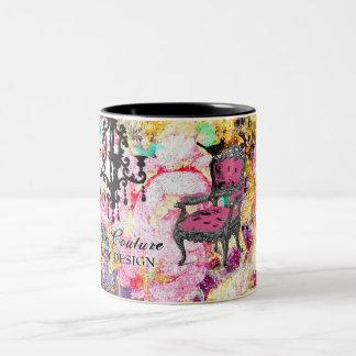 GC | Fabulously French Shabby Rose Two-Tone Coffee Mug