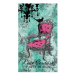 GC Fabulously French Turquoise Damask Pack Of Standard Business Cards