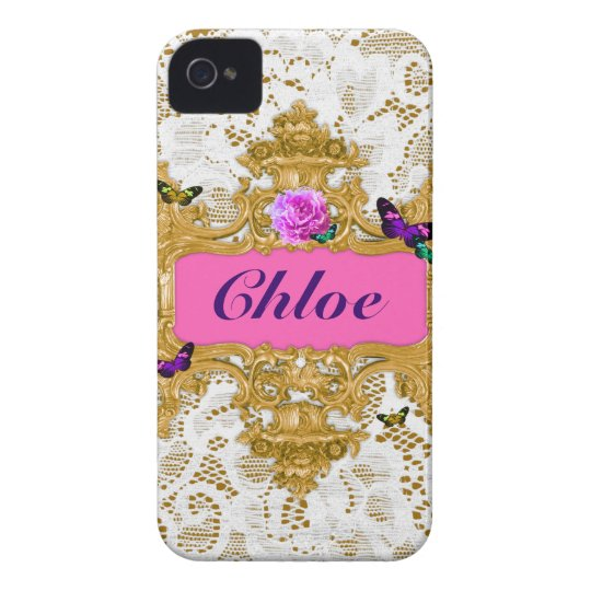 GC Glam Wonderland Gold Lace Case-Mate iPhone 4 Cases