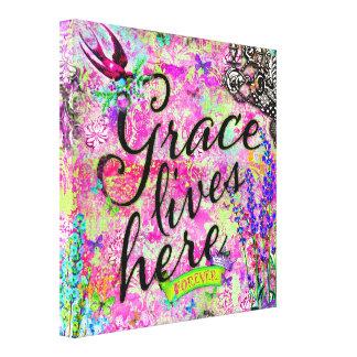 GC Grace lives here Canvas Print