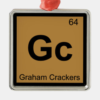 Gc - Graham Crackers Chemistry Periodic Table Christmas Ornament