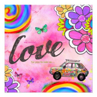 GC Hippy Tie Dye Invite Pink