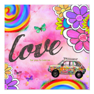 GC | Hippy Tie Dye Invite Pink