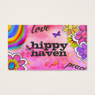 GC | Hippy Tie Dye Pink Business Card