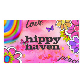 GC | Hippy Tie Dye Pink Business Cards