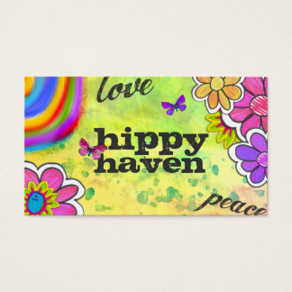 GC | Hippy Tie Dye Yellow Business Card
