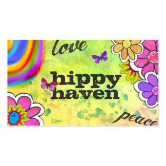 GC | Hippy Tie Dye Yellow Business Cards