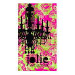 GC   Jolie Chandelier Hot Lime Damask Pack Of Standard Business Cards