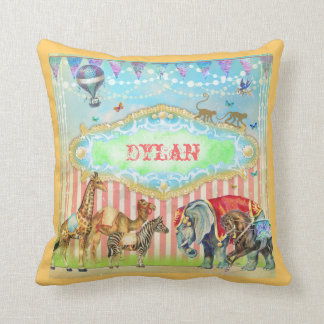 GC Magical Join the Circus Vintage Blue Cushion