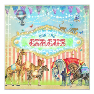 GC Magical Join the Circus Vintage Stripes Boy Card