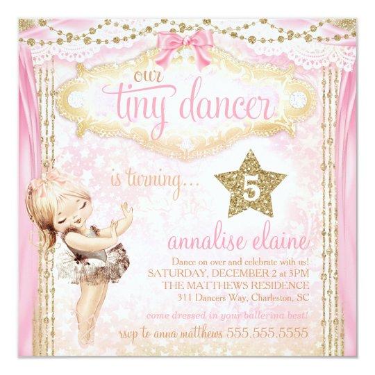 GC Magical Vintage Tiny Dancer Ballerina Card