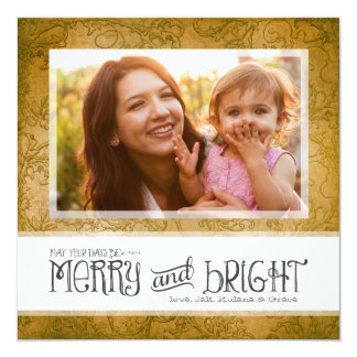 GC | May Your Days Be Merry & Bright Brown Card