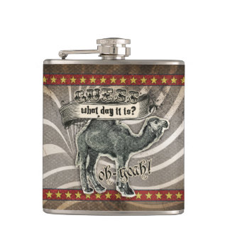 GC Monogram Vintage Guess What Day it Is Hump Day Flasks