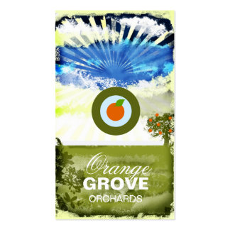 GC | Orange Grove Card with Logo Pack Of Standard Business Cards