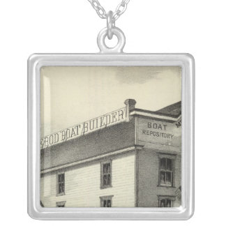 GC Ormerod, the Boat Builder, Asbury Park, NJ Silver Plated Necklace