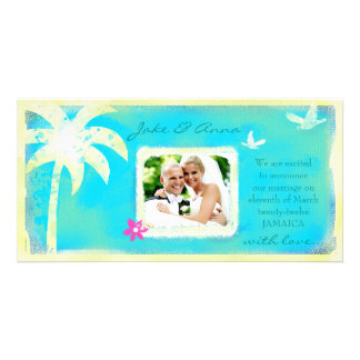 GC | Paradise Found Wedding Announcement Customized Photo Card