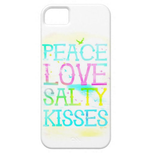 GC Peace Love Salty Kisses Cover For iPhone 5/5S