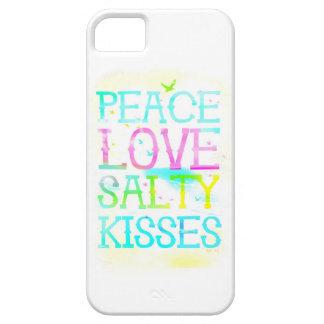 GC Peace Love Salty Kisses iPhone Case