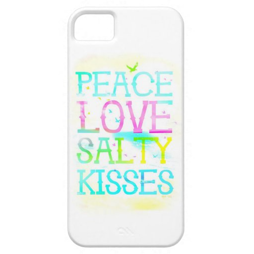 GC Peace Love Salty Kisses iPhone Case iPhone 5/5S Case