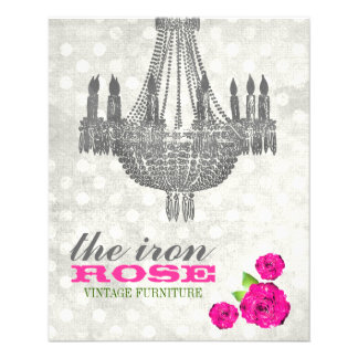 GC Pink & Gray Vintage Rose Dots Flyer