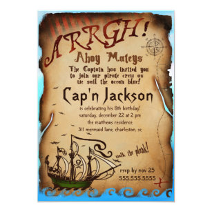 pirate party invitations announcements zazzle uk
