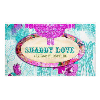 GC Purple Aqua Shabby Love Pack Of Standard Business Cards