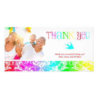 GC Rainbow Thank You Bird Picture Card