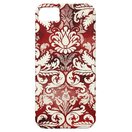 GC Red Velvet Cake Vintage Damask iphone 5 iPhone 5 Cases