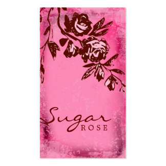 GC | Rouge Sugar Cream Rose Business Cards