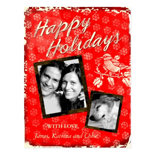 GC | Rustic Christmas Card 3 Add Photo