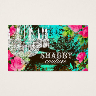 GC Shabby Aqua Garden Chandelier Business Card