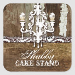 GC Shabby Cake Stand Chandelier Square Sticker