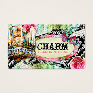 GC  Shabby Vintage Charm Black Damask