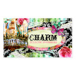 GC | Shabby Vintage Charm Black Damask Pack Of Standard Business Cards