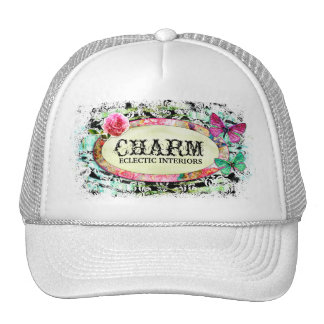 GC | SHABBY Vintage Charm - Black Damask Cap