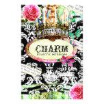 GC | SHABBY Vintage Charm - Black Damask Flyers