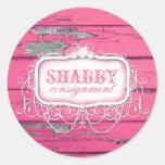 GC Shabby Vintage Pink Wood Sticker