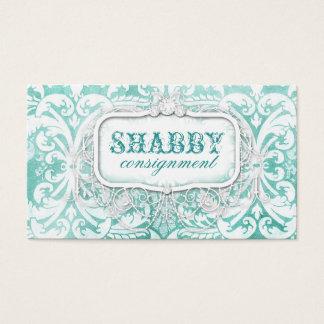 GC Shabby Vintage Turquoise Wood