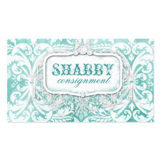 GC Shabby Vintage Turquoise Wood Pack Of Standard Business Cards