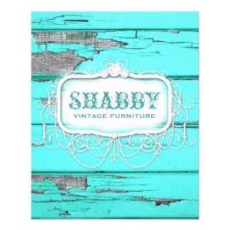 GC Shabby Vintage Wood Aqua Flyer