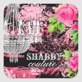 GC Shabby Wild Garden Chandelier Square Sticker