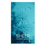 GC Sheer Water Blue Business Cards